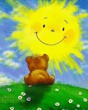 мишка и солнце