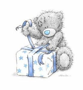 Мишка тедди с подарком